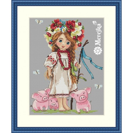 Shepherd Girl SK43 cross stitch kit by Merejka