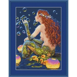 Bubbles SK46 cross stitch kit by Merejka