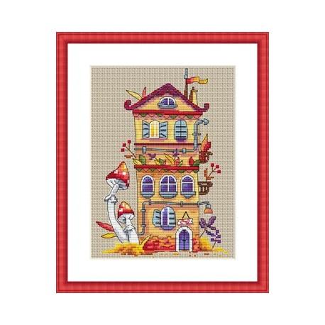 Autumn House SK54 siuvinėjimo rinkinys iš Merejka