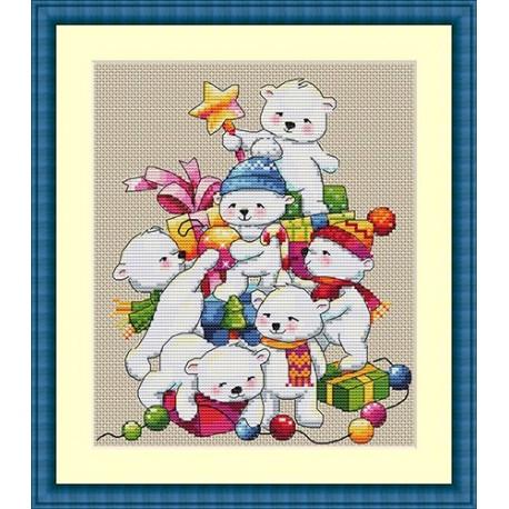 Christmas Bears SK55 siuvinėjimo rinkinys iš Merejka