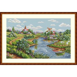 Spring View SK57 cross stitch kit by Merejka