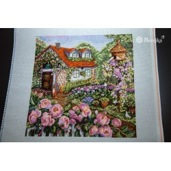 House in Roses SK78 cross stitch kit by Merejka