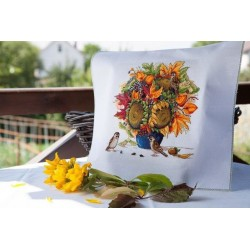Sunflowers Autumn Bouquet SK80 cross stitch kit by Merejka