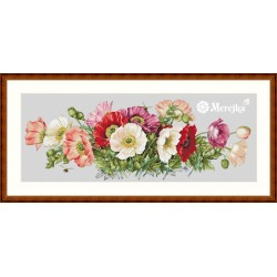 Poppy SK33B (Evenweave) cross stitch kit by Merejka