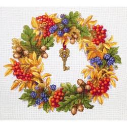 Autumn Wreath SK99 siuvinėjimo rinkinys iš Merejka