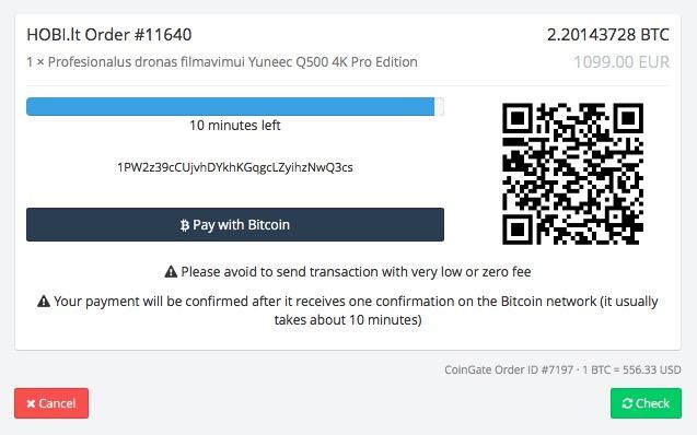atsiskaitymas uz prekes su bitcoin